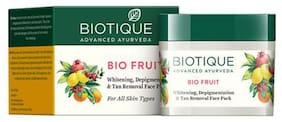 BIOTIQUE Bio Fruit - Whitening & Depigmentation Face Pack 75 gm