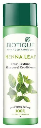 BIOTIQUE Bio Henna Leaf - Fresh Texture Shampoo & Conditioner 120 ml