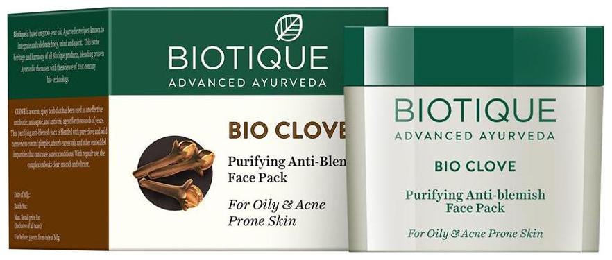 Biotique Bio Clove - Purifying Anti-Blemish Face Pack For Oily & Acne Prone Skin 75 gm