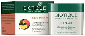 Biotique Bio Peach Clarifying & Refining Peeloff Mask For Oily & Acne Prone Skin