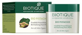 Biotique Bio Pistachio Youthful Nourishing & Revitalizing Face Pack For All Skin Types 50 gm
