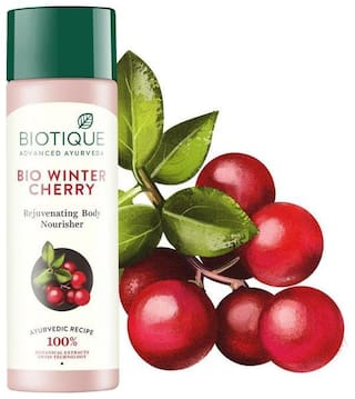 Biotique Bio Wintercherry 190 ml Lightening & Rejuvenating Body Nourisher