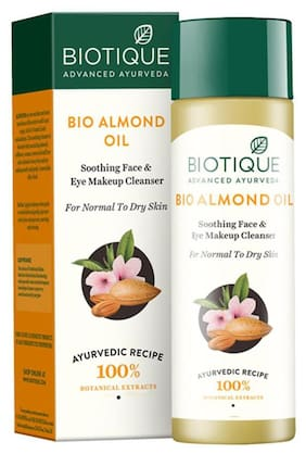 Biotique Bio Almond Oil Soothing Face & Eye Makeup Cleanser For Normal To Dry Skin 120 ml