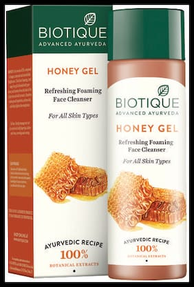 Biotique Bio Honey Gel 1Refreshing Foaming Face Cleanser For All Skin Types