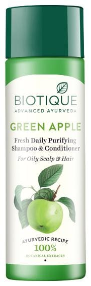 Biotique Bio Green Apple Fresh Daily Purifying Shampoo & Conditioner For Oily Hair & Scalp 120 ml