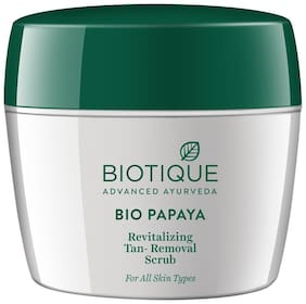 Biotique Bio Papaya Revitalizing Tanremoval Scrub For All Skin Types