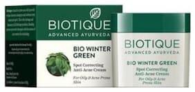 Biotique Bio Winter Green Spot Correcting Antiacne Cream For Oily & Acne Prone Skin 15 g