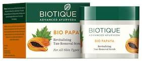 Biotique Bio Papaya Revitalizing Tanremoval Scrub For All Skin Types