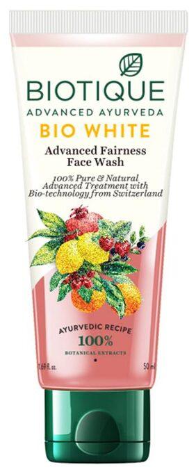 Biotique Bio White Advanced Fairness Facewash For All Skin Types 50 ml
