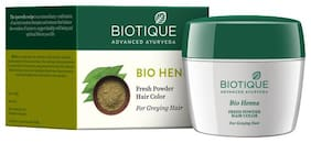 Biotique Bio Heena Fresh Powder Hair Color For Greying Hair