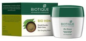 Biotique Bio Heena Fresh Powder Hair Color For Greying Hair