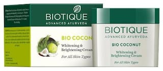 Biotique Bio Coconut Whitening & Brightening Cream For All Skin Types 50 g