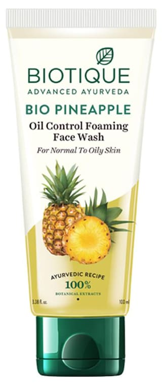 Biotique Bio Pine Apple Oil Balancing Face Wash For Oilyl Skin Types 100 ml