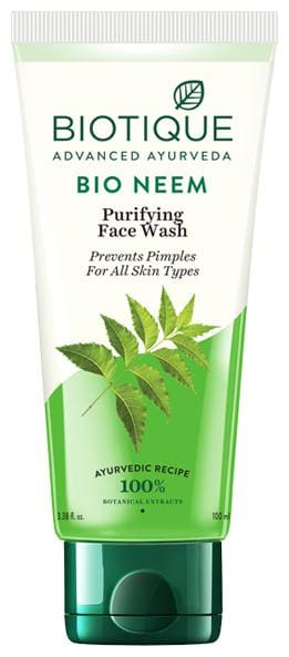 Biotique Bio Neem Purifying Face Wash For Oily Acne Prone Skin 100 ml