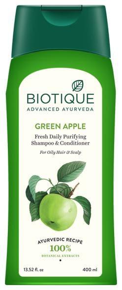 Biotique Bio Green Apple Fresh Daily Purifying Shampoo & Conditioner For Oily Hair & Scalp Shampoo 400 ml