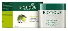 Biotique Bio Coconut Whitening & Brightening Cream For All Skin Types 50 Gm