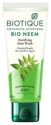BIOTIQUE Face Wash - Bio Neem Purifying for Oily Acne Prone Skin 50 ml