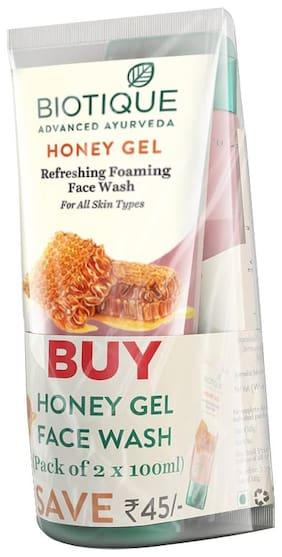 Biotique Honey Gel Hydrating Face Wash 100 ml (Pack Of 2)