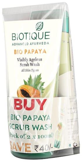 Biotique Papaya Exfoliating Face Wash 100Ml (Pack Of 2)