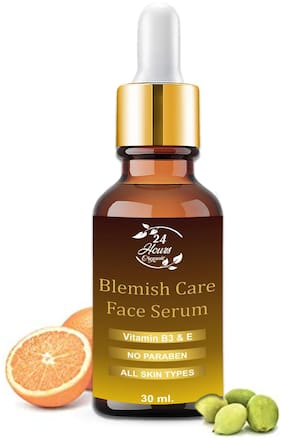 24 HOURS ORGANIC Blemish Care Serum For Glowing Face \ Skin Whitening\ Age Defying \pigmentation \ Anti Ageing \ Blackheads Removal \ Radiant Skin \Dark Circle Removal (30ml)