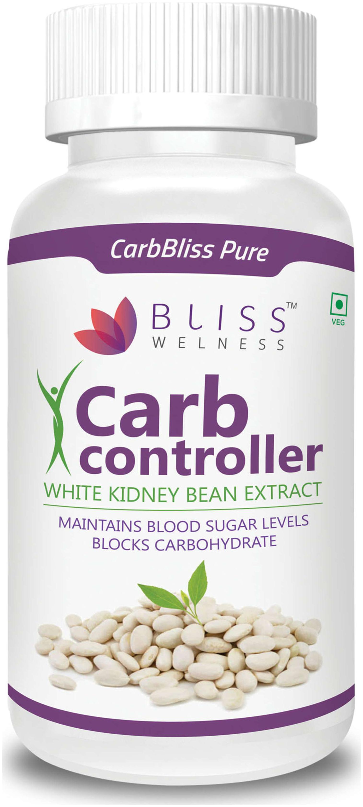Buy Bliss Welness Carb Bliss Pure White Kidney Bean Extract Carb Blocker 100 Vegetarian Health Supplement 60 Vegetarian Capsules Online At Low Prices In India Paytmmall Com