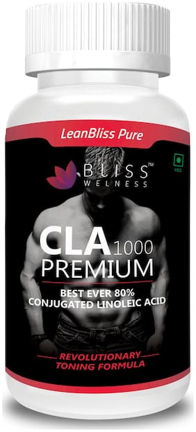 Bliss welness Lean Bliss Pure CLA 80% 100% Vegetarian/Vegan Active - 60 Vegetarian Capsules