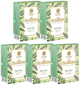 BLOSSOM Neem Clear Soap for Men & Women - Pack of 5 (5 x 100 g)