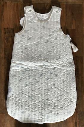 Blossom Paris Bubbles 100% Cotton Sleeping Bag in White - Size 90/ 6-18 M