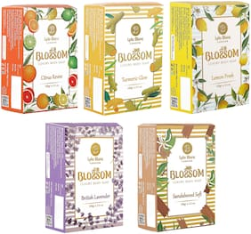 BLOSSOM Soaps Citrus Revive for Men & Women 100g Pack of 5