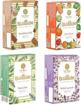 BLOSSOM Soaps Sandelwood Soft  for Men & Women 100g Pack of 4