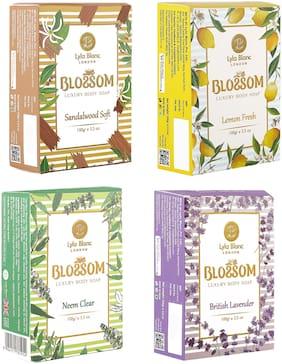 BLOSSOM Soaps Lemon Fresh for Men & Women 100g Pack of 4