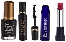 Blue Heaven Pack of 3 Classic Eyeliner 7ml;Classic Mascara 6.5ml & Innocence Matte Lipstiks Shade#9 Magenta (4 g)