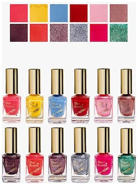 Blue Heaven Classic Nail Lusture (Pack of 12 Assorted Shades)