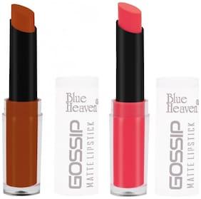 Blue Heaven Combo of 2 Gossip Lipsticks (Shade 2 and 3)