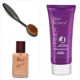 Blue Heaven Combo of Signature Foundation Primer And Foundation Brush Applicator