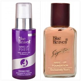 Blue Heaven Combo of Signature Foundation And Makeup Fixer Spray