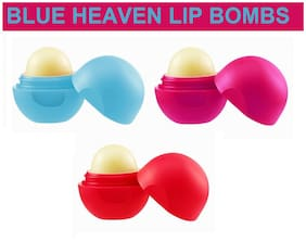 Blue Heaven Combo of 3 Lip Bombs(8 g each)(Cocoa Butter;Strawberry;Bubble Gum)