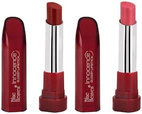 Blue Heaven Glossy Innocence lipsticks(Maroon;Pink) (4g each) (Pack of 2)