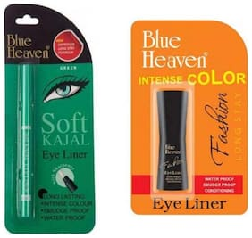 Blue Heaven Combo of Green Soft kajal Eyeliner and Fashion Eyeliner