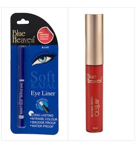 Blue Heaven Combo of Blue Soft Kajal and Artisto Red sindoor100 gm