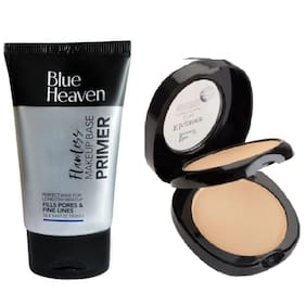 Blue Heaven Combo of Primer 30g and Dual Compact 15g (Pack of 2)