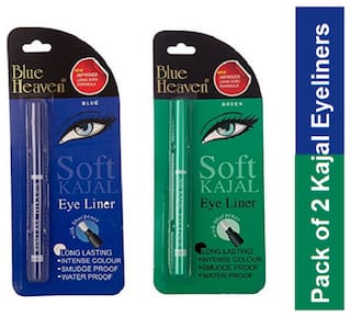 Blue Heaven Combo of Soft kajal Eyeliners (Green and Blue)