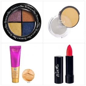 Blue Heaven Combo of Magic Eyeshadow UHD Compact Face Glow Foundation And Walkfree Lipstick