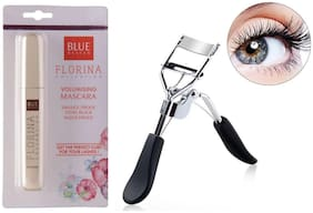 Blue Heaven Florina Mascara 7ml &  Eyelash Curler 15 g (Pack of 2)