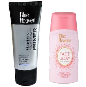 Blue Heaven Combo of Primer 30g and Face Glow Powder 50g (Pack of 2)