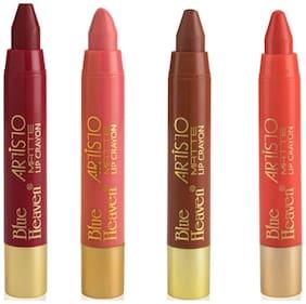 Blue Heaven Artisto Lip Crayons 3.2g (Pack of 4) Multi