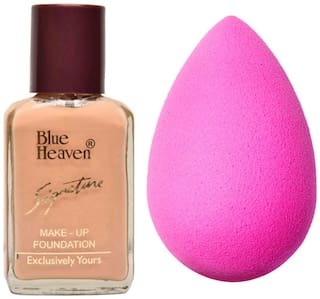 Blue Heaven Signature Foundation 30 ml & 1 Makeup Puff 1.50 g