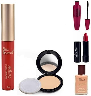 Blue Heaven Karvachauth Special Festive Combo of 5 Essensial Makeup Items