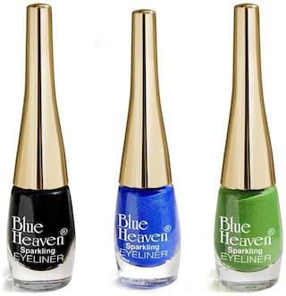 Blue Heaven Liquid Eyeliner Multicolor (Pack of 3)