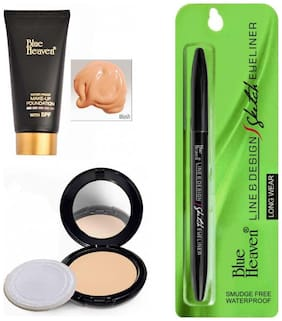 Blue Heaven Combo of Tube Foundation Artisto Compact And Sketch Eyeliner